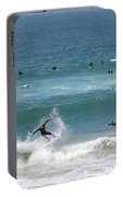 Catching Air In Huntington Beach California Portable Battery Charger