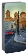 Cathedral From Campo Del Sur Cadiz Spain Portable Battery Charger