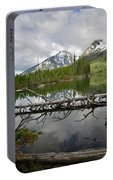 Cathedral Group Reflection On String Lake Portable Battery Charger