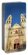 Cathedral In Campeche Portable Battery Charger