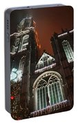 Cathedral In The Mist Portable Battery Charger