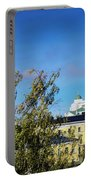 Cathedral Landmark And Central Helsinki View In Finland Portable Battery Charger
