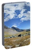 Cathedral Peak Over Waterton Valley Trail - Glacier National Park Portable Battery Charger