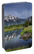 Grand Teton Cathedral Reflections Portable Battery Charger