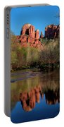 Cathedral Rock Reflection In Oak Creek Portable Battery Charger