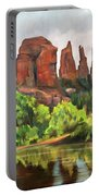 Cathedral Rocks In Crescent Moon Park Portable Battery Charger