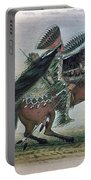 Catlin: Crow On Horseback Portable Battery Charger