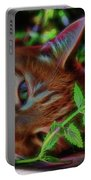 Catnip Chillin Portable Battery Charger by Beth Sawickie