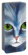 Cat Eyes Blue Portable Battery Charger