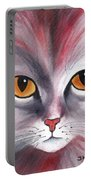 Cat Eyes Red Portable Battery Charger