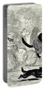Cats In A Bicycle Race, Hyde Park, 1896 Portable Battery Charger