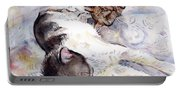Cats In Watercolor Portable Battery Charger