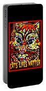 Cats Lives Matter Portable Battery Charger