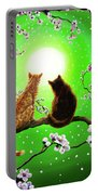 Cats On A Spring Night Portable Battery Charger