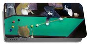 Cats Playing Pool Portable Battery Charger