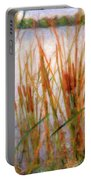 Cattails By The Lake Portable Battery Charger