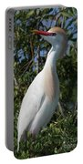 Cattle Egret Pose Portable Battery Charger