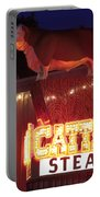 Cattlemen's Neon Stock Yards Portable Battery Charger