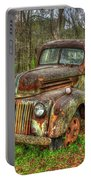Caught Behind 1947 Ford Stakebed Pickup Truck Art Portable Battery Charger