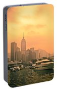 Causeway Bay At Sunset Portable Battery Charger