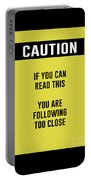 Caution Sign Portable Battery Charger