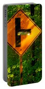 Caution T Junction Road Sign Portable Battery Charger
