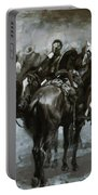 Cavalry In An Arizona Sandstorm 1889 Portable Battery Charger