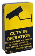 Cctv Warning Sign Portable Battery Charger