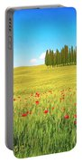 Cedar Grove And Poppies Portable Battery Charger