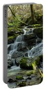 Cedar Mills Falls After Snowfall, Oregon Portable Battery Charger