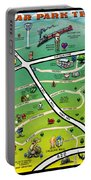 Cedar Park Texas Cartoon Map Portable Battery Charger