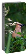 Cedar Waxwing Facing Right Portable Battery Charger