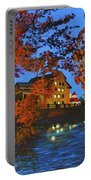 Cedarburg Mill At Night Portable Battery Charger