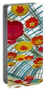 Ceiling Of Bellagio Conservatory In Las Vegas-nevada Portable Battery Charger