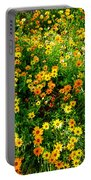 Celebration Of Yellows And Oranges Study 4 Portable Battery Charger