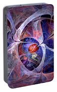 Celestial North - Fractal Art Portable Battery Charger
