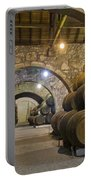 Cellar With Wine Barrels Portable Battery Charger