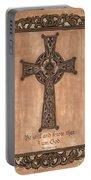 Celtic Cross Portable Battery Charger by Debbie DeWitt
