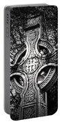 Celtic Cross Detail Killarney Ireland Portable Battery Charger