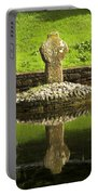 Ancient Celtic Cross At St Patrick Well Portable Battery Charger