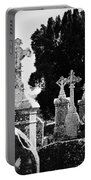 Celtic Crosses At Fuerty Cemetery Roscommon Ireland Portable Battery Charger