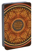 Celtic Dragonfly Mandala In Orange And Brown Portable Battery Charger