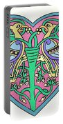 Celtic Heart Portable Battery Charger