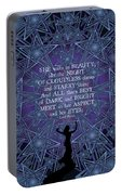 Celtic She Walks In Beauty Portable Battery Charger