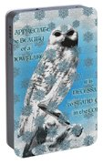 Celtic Snowy Owl Portable Battery Charger