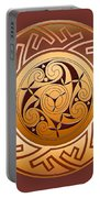 Celtic Spiral And Key Pattern Portable Battery Charger