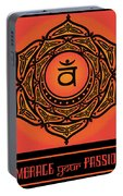 Celtic Tribal Sacral Chakra Portable Battery Charger