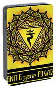 Celtic Tribal Solar Plexus Chakra Portable Battery Charger
