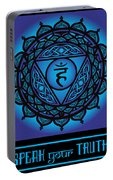 Celtic Tribal Throat Chakra Portable Battery Charger