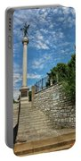 Cemetery Entrance And Lovejoy Monument  Portable Battery Charger